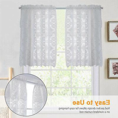Heavy Lace Kitchen Curtain Choice 24 36''