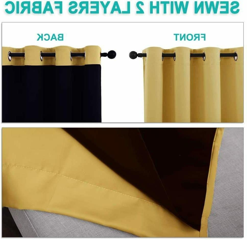 NICETOWN Thermal Curtains, Blackout 84 inches Long