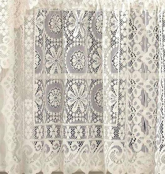 Hopewell Lace Kitchen Collection - White or Cream !