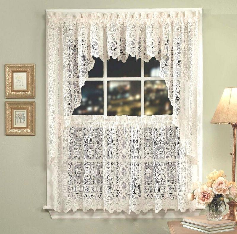 hopewell lace kitchen curtain collection white or