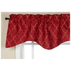 Stylemaster Hudson 52 by 17-Inch Embroidered Lined Valance w
