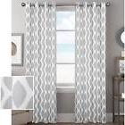 Better Homes and Gardens Ikat Diamonds Curtain Panel with Gr