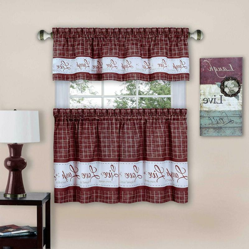 imports live love laugh window curtain tier