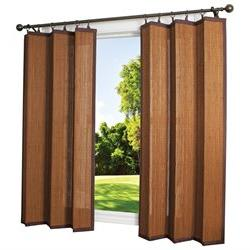 Indoor/Outdoor Bamboo Ring Top Curtain Panel, 40 x 72, Espre