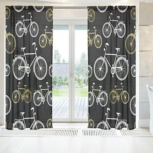ingbags bicycle voile window long