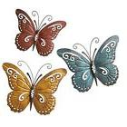 Nature Inspired Metal Butterfly Wall Art Trio Wall Sculpture