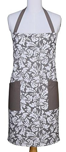 Yourtablecloth Kitchen Apron for Women and Men 100% Cotton,