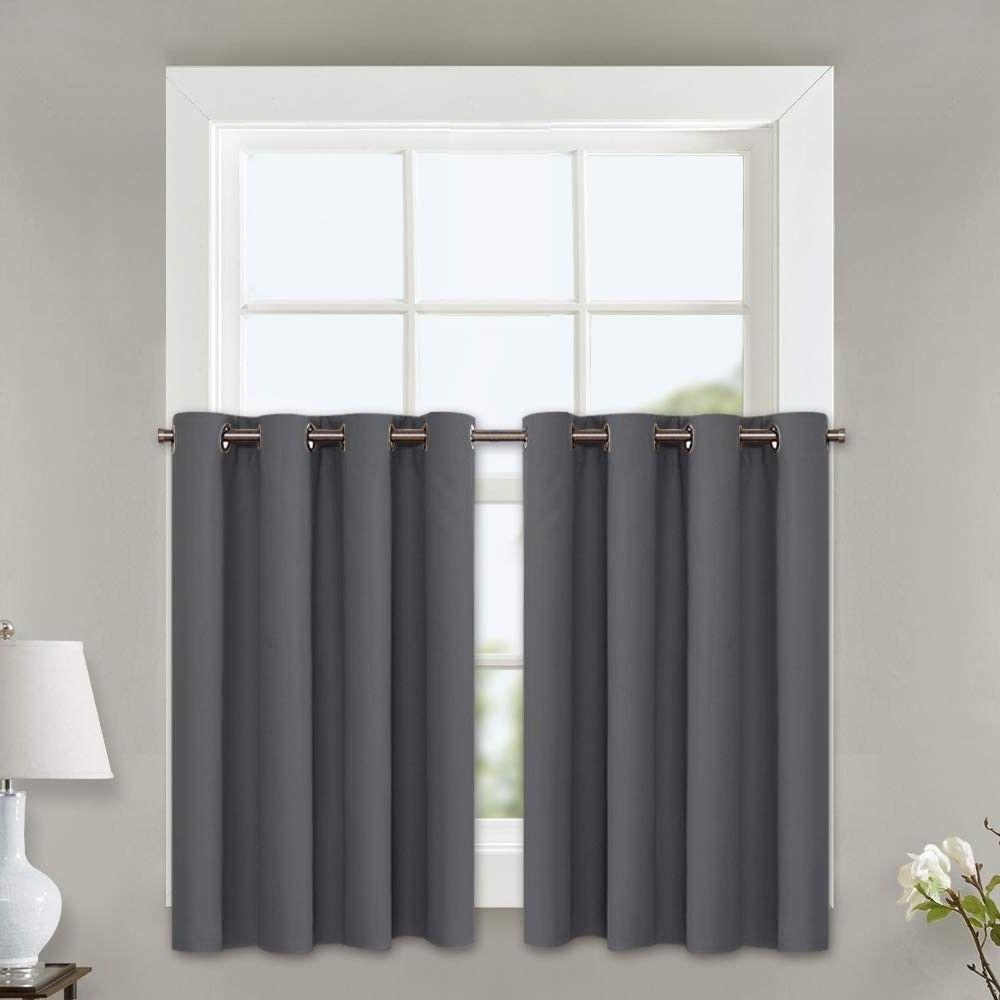 Kitchen Blackout Insulated Window Tiers Curtains Home