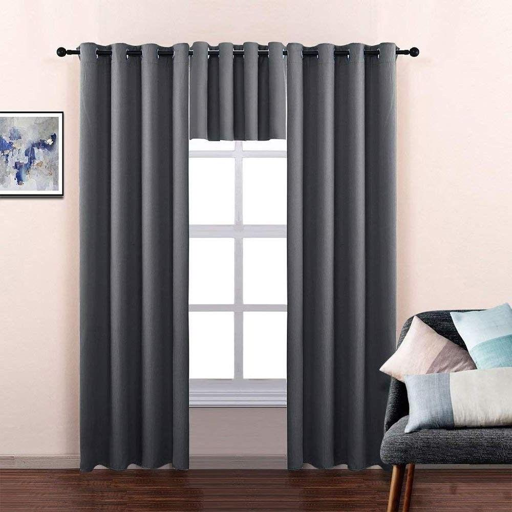 kitchen blackout thermal insulated window tiers curtains