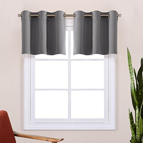 kitchen blackout window treatment valances
