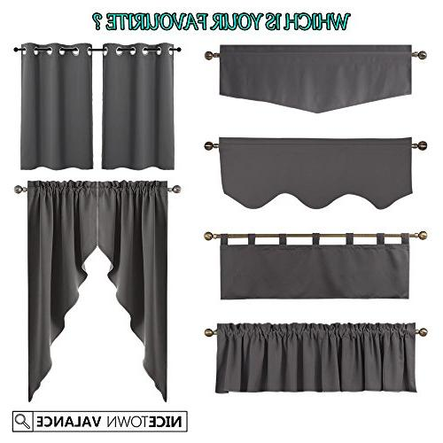 NICETOWN Small Darkening Valances Thermal Window Treatment Curtains/Drapes