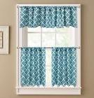 Kitchen Curtains: Colordrift Misha Pair of Teirs Curtains an