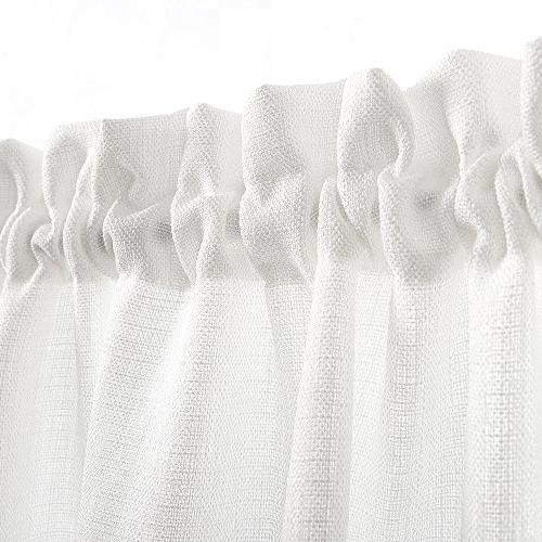 36 inch Curtains Casual Curtain Set Rod Pocket Panels