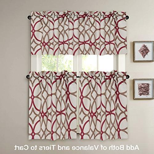Decorative Blackout Curtain Pocket Curtains- Taupe Geo Pattern