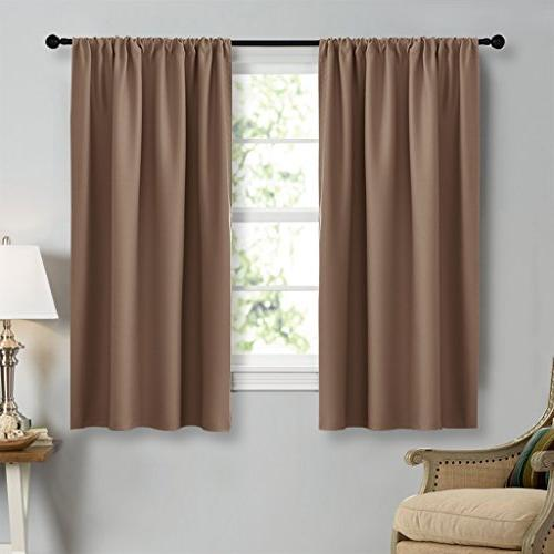 kitchen window blackout curtains cappuccino