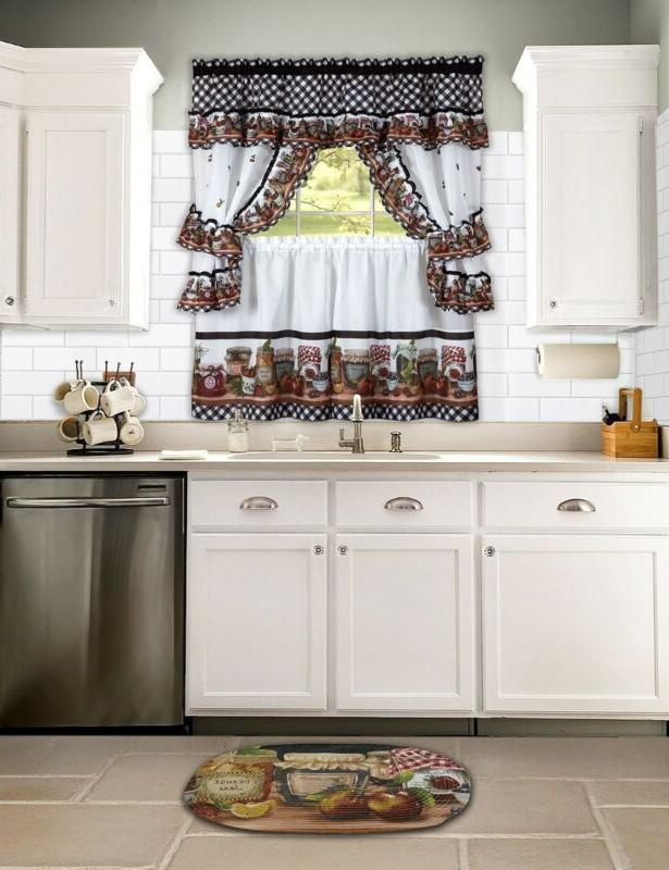Kitchen Window Swag Country Styles Set Long