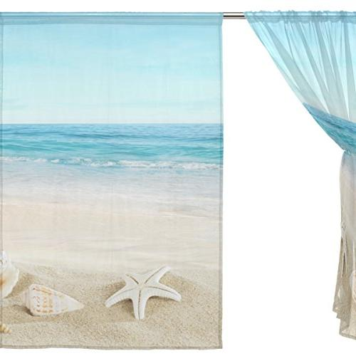ALIREA On Curtain Panels Voile Curtains For Bedroom Room Decor, inches, 2