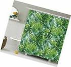 Ambesonne Leaf Shower Curtain, Tropical Exotic Banana Forest