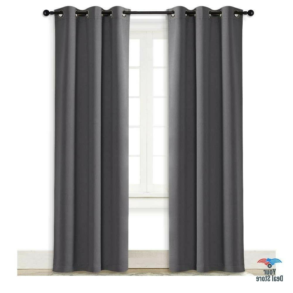 light blocking curtains tall daylight gray kitchen