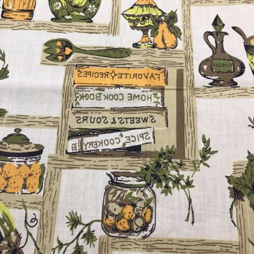MCM Fabric Kitchen Spice Yds 35 inches Wide True Vintage