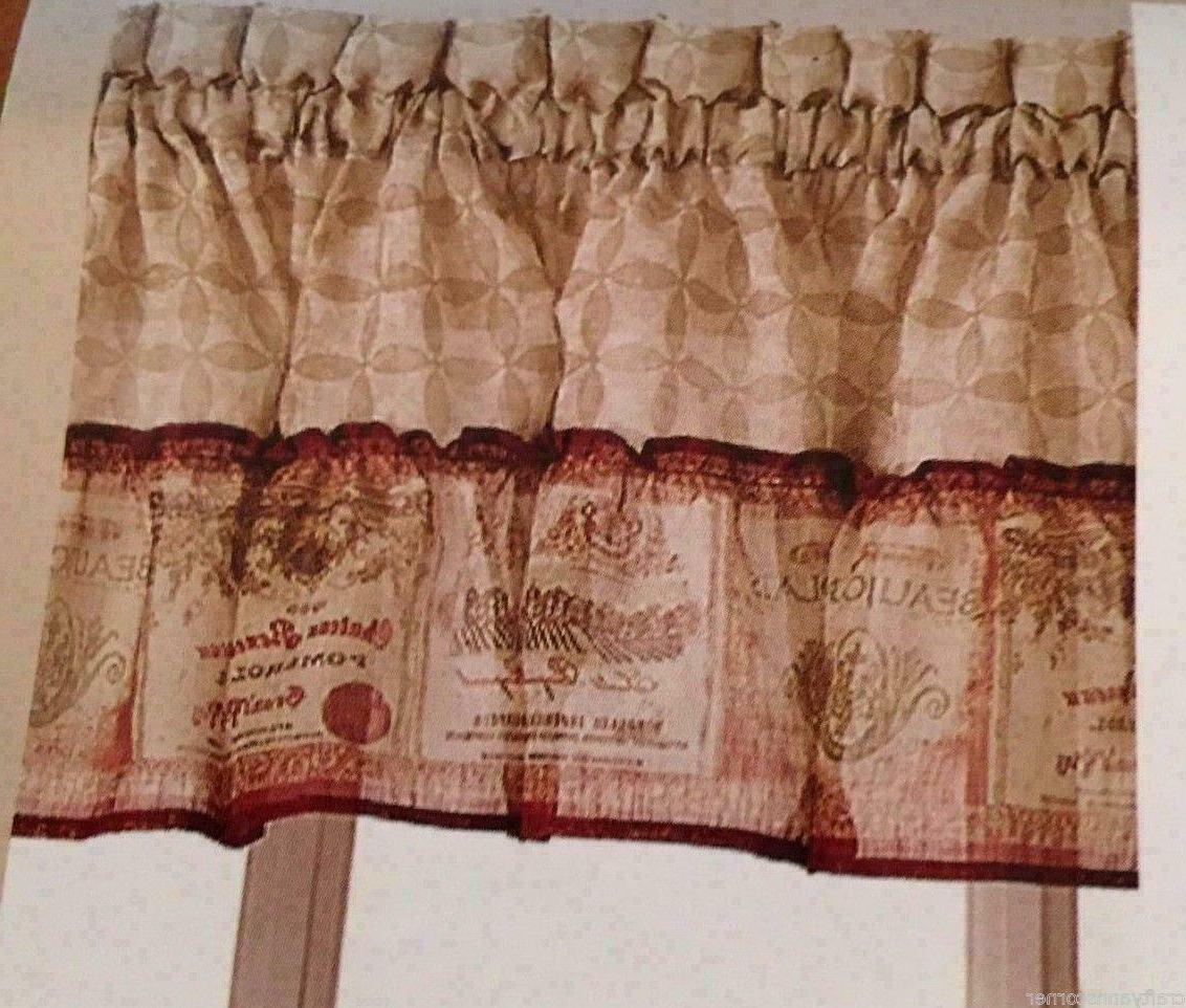 CHF Wine Kitchen Curtain and Valance Set Sheer