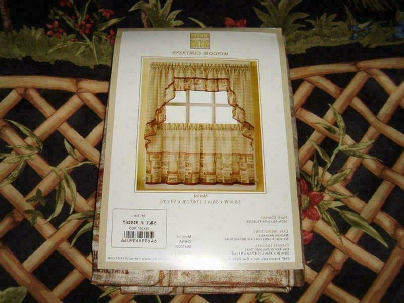 CHF Curtain Tiers and Set Sheer 36""