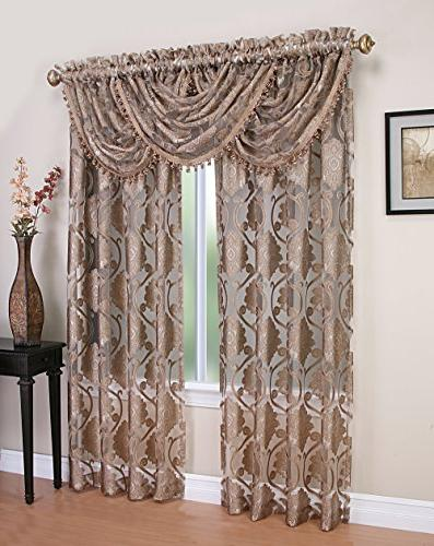 milawi sheer jacquard scroll waterfall