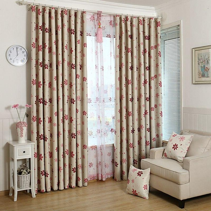 Modern <font><b>Curtains</b></font> With Flowers Printed Bla