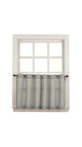No. 918 Montego Casual Textured Kitchen Curtain Tier Pair, 5
