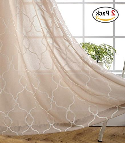 moroccan embroidery semi sheer curtains