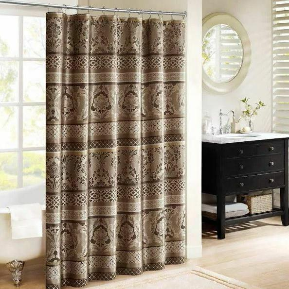 Madison Park MP70-3035 Polyester Jacquard Shower Curtain - T