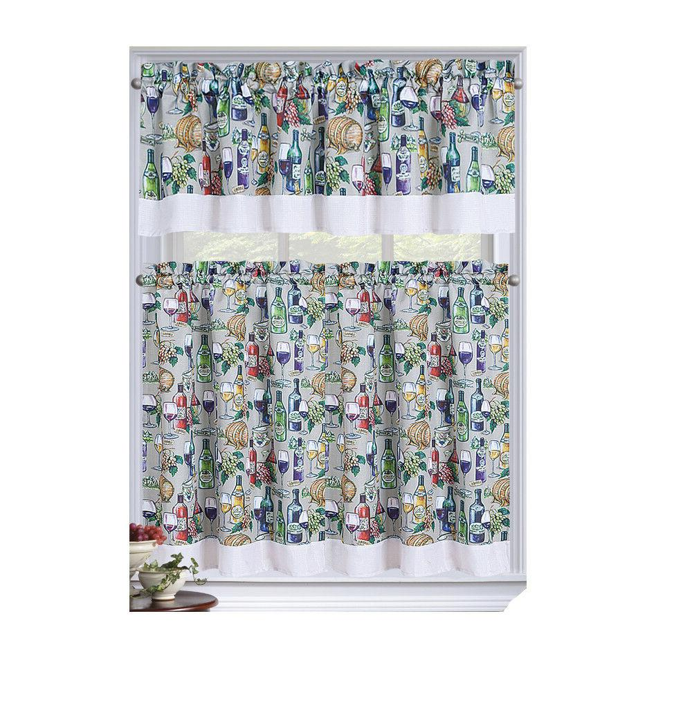 napa complete kitchen curtain set assorted colors