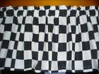 Nascar Check Checked Checkered Flag Black White Bedroom Wind