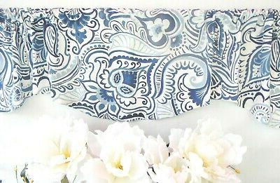 NAVY BLUE Valence~Curtain~TOPPER~FLAT
