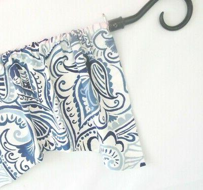 NAVY Valence~Curtain~TOPPER~FLAT HANG