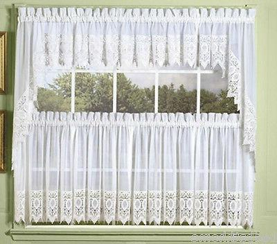 new diana sheer voile kitchen curtain
