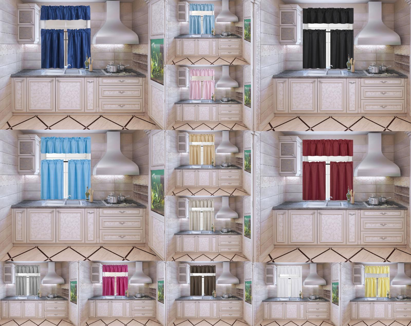 new kitchen collection set window dressing curtain