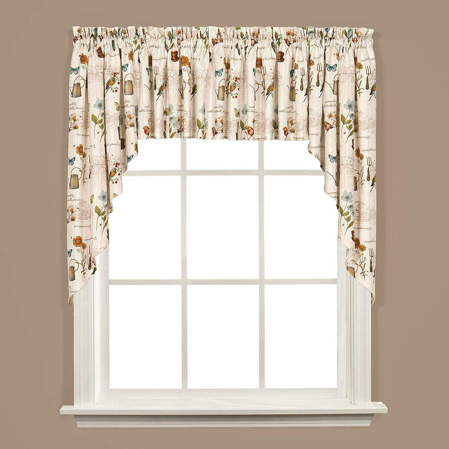 Saturday Knight Le Floral Kitchen Tiers, Valance, Swags