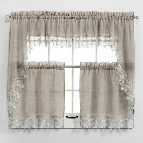 new lillian faux linen kitchen curtain