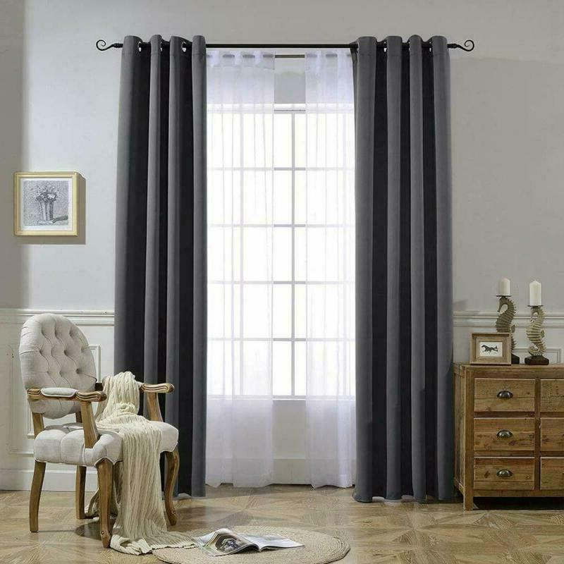 Nicetown Blackout Curtains For Bedroom 3 Pass Microfiber