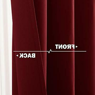 "NICETOWN Kitchen Window - Pair 42""W x Burgundy Red"