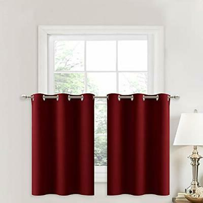 nicetown blackout small kitchen window curtains pair
