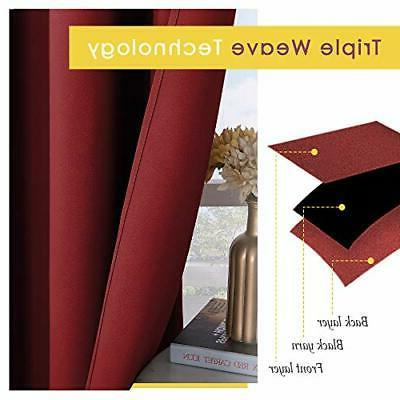 NICETOWN Window Curtains Blackout Insulated Solid