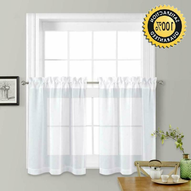 nicetown sheer curtains for kitchen window home