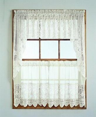 "No. 918 Joy Classic Lace Kitchen Curtain Tier Pair, 60"" x 36"