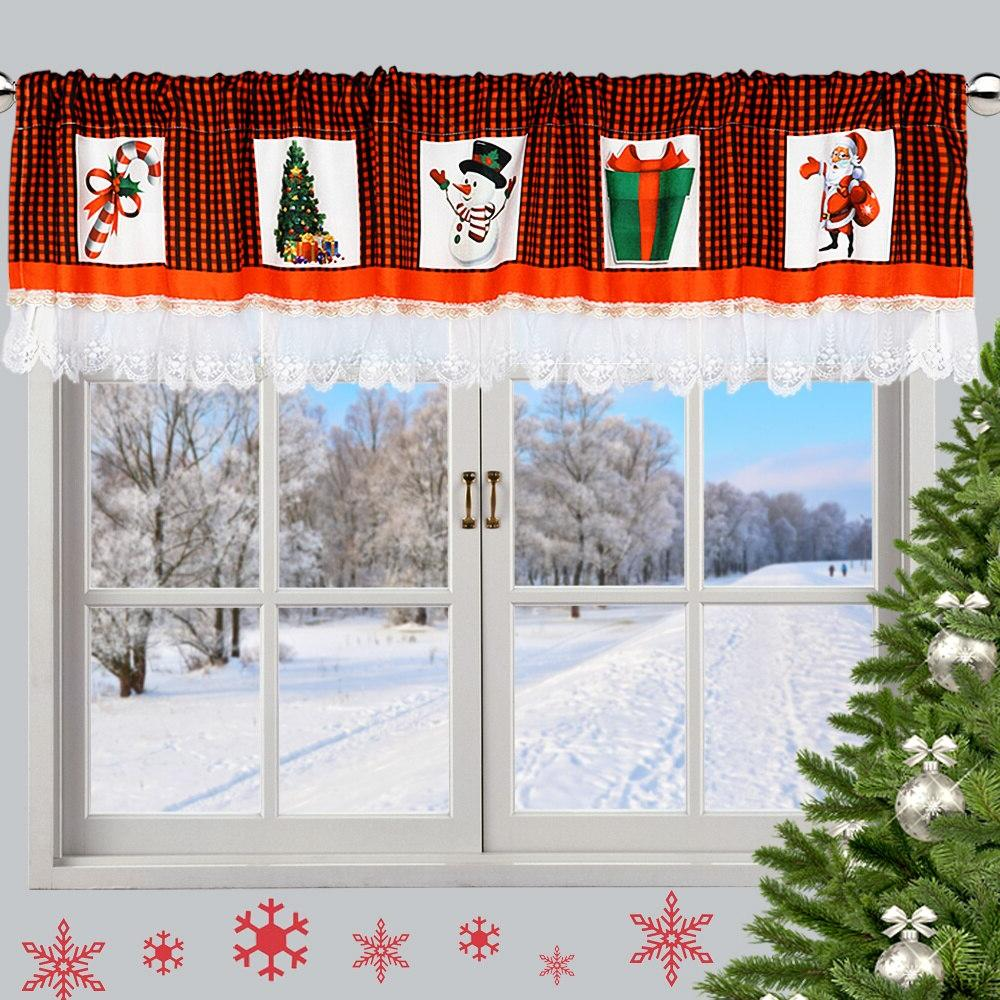 oheart christmas window font b curtain b