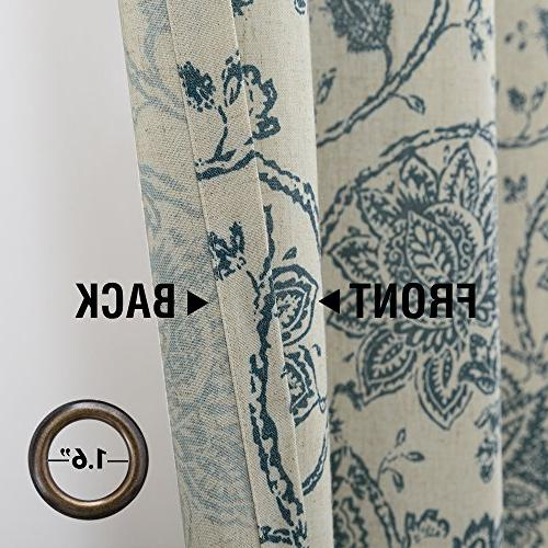 Paisley Scroll Printed Curtains, Top Medallion Design Printed Living Set