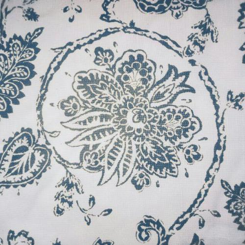 Paisley Printed Curtains, Grommet Top Medallion Design Jacobean Printed Living Room Window Set