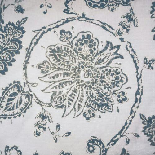 Tie Up for Kitchen Floral Printed Valance Rod Pocket Linen Textured Tie-up for Inches
