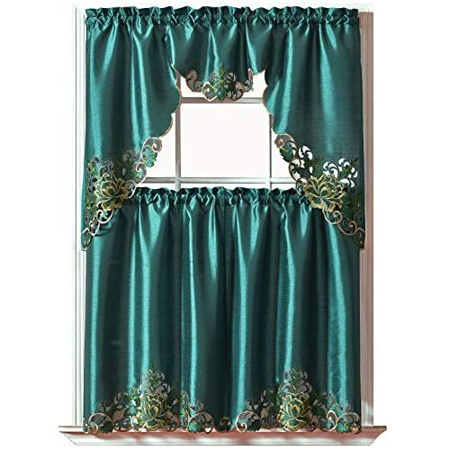 passionate bloom kitchen curtain set
